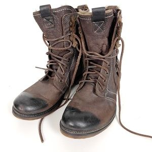 Pakros Men's Lace Up Leather Boots